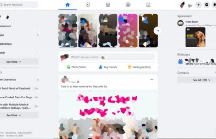 فيس بوك تبدأ بإطلاق تصميمها الجديد والوضع الليلي على الويب