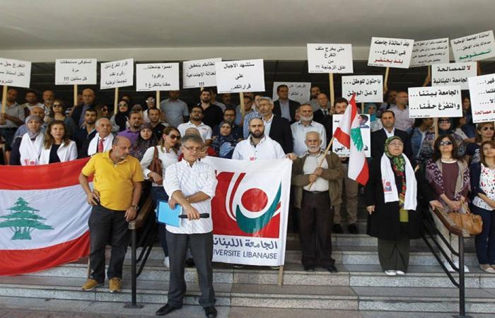 """الأساتذة المتعاقدون في """"اللبنانية"""": تفرغنا لا يزال القضية الاساس!"""