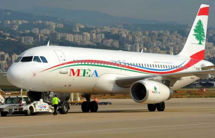 """وصول طائرة لـ""""الميدل إيست"""" إلى مطار بيروت تقلّ وافدين من جورجيا"""