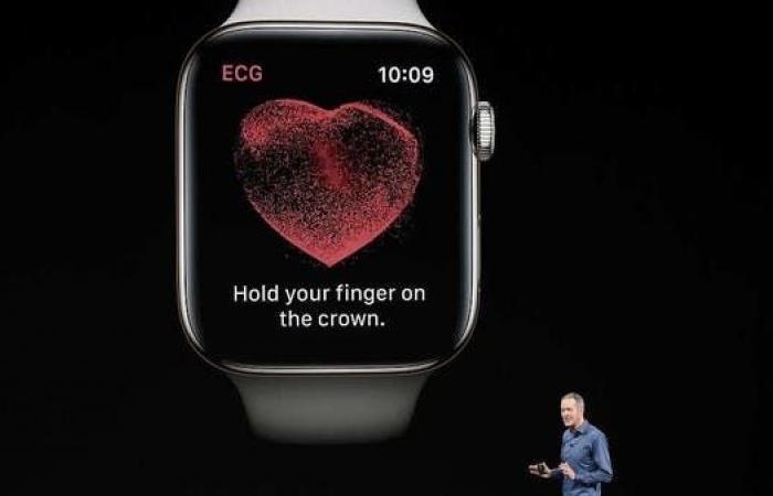 آبل تطلق تطبيق تخطيط القلب لساعتها الذكية