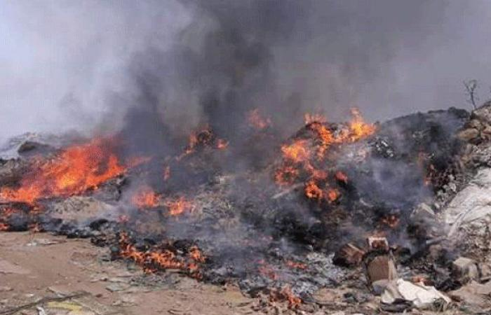 مجهولون يحرقون نفايات في عاصون-الضنية