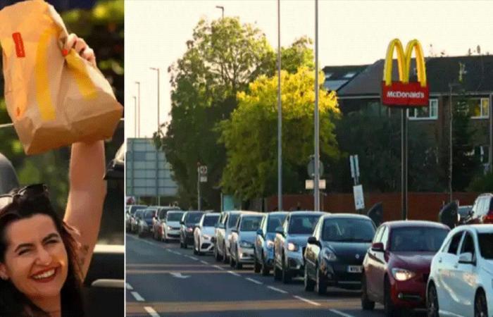 """ازدحام جنوني في لندن من أجل وجبات """"ماكدونالدز"""""""