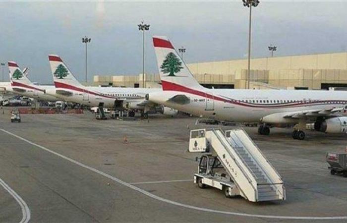طائرة عسكرية مصرية في بيروت