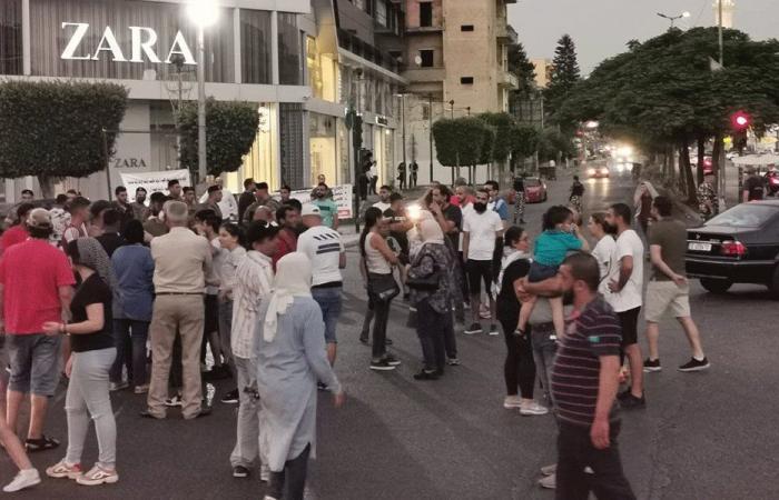 محتجون قطعوا الطريق في ساحة إيليا