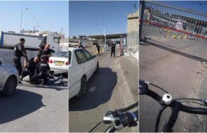 فلسطين | فيديو | اعتقال شابين على حاجز قلنديا