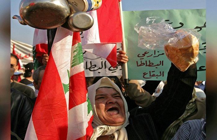 محتجون أمام وزارة الاقتصاد: الشعب اذا جاع سيأكل حكامه!