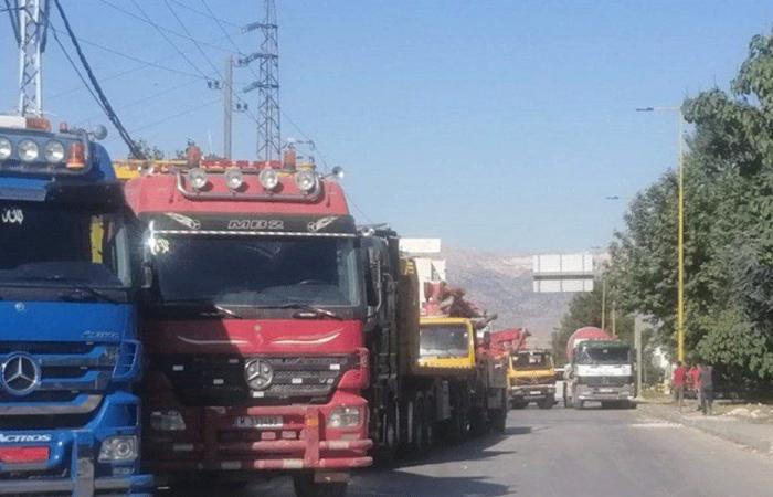 اعتصام لأصحاب الشاحنات ومؤسسات البناء في شكا