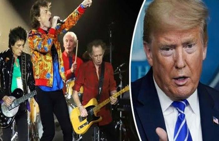 """نجوم """"رولينغ ستونز"""" يهددون بمقاضاة ترامب"""