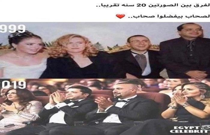 صورة من زفاف أحمد السقا قبل 20 عامًا وزوجة محمد هنيدي تخطف الأنظار