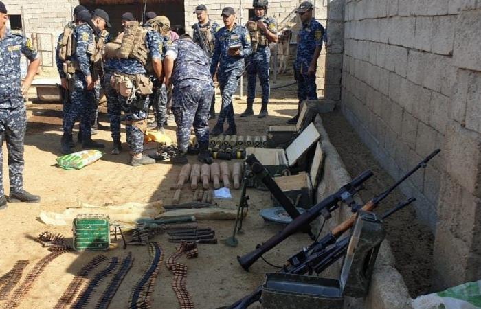 """العراق   أعداد ضخمة من الأسلحة حصيلة عمليات """"أبطال العراق"""" في ديالى"""