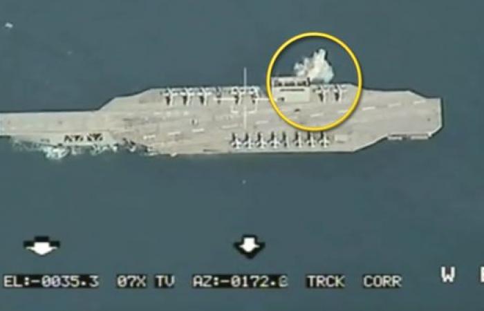 إيران   إيران وحاملة الطائرات الوهمية.. صاروخ خلال المناورات