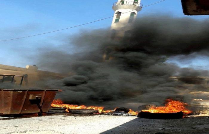 قطع طريق وادي خالد احتجاجا على مصادرة اغنام معدة للتهريب