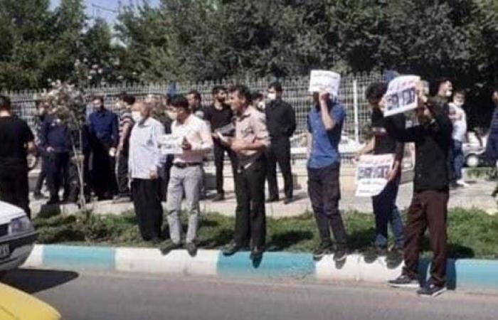 إيران   شاهد تظاهرة لأسر 5 محتجين إيرانيين محكومين بالإعدام