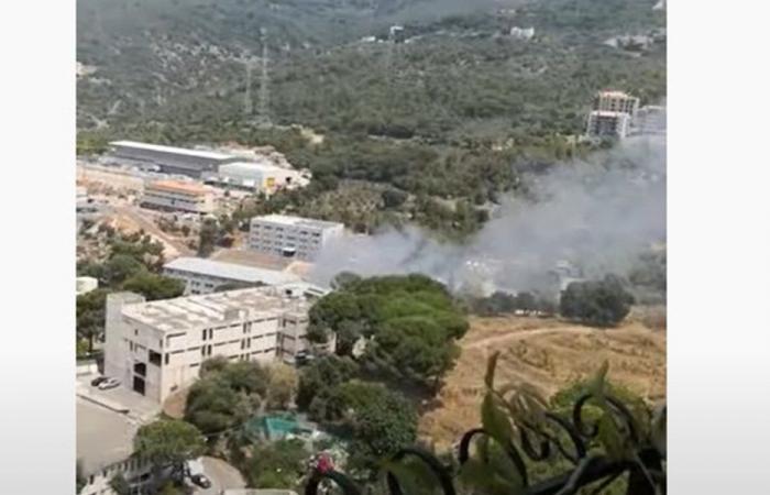 حريق في المدينة الصناعية… وسقوط جرحى (فيديو)