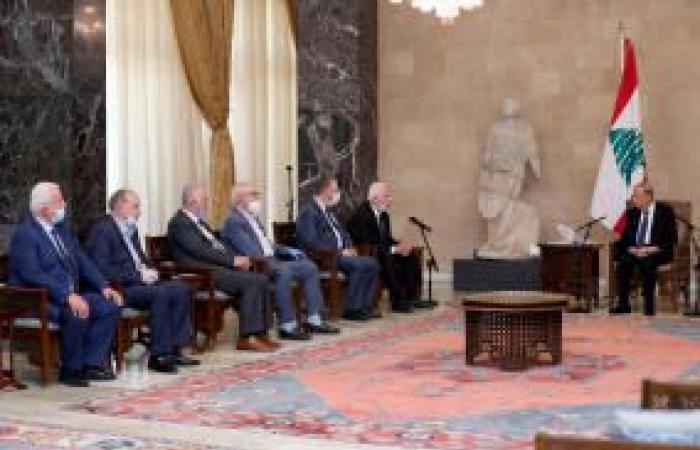 فلسطين | بتوجيهات رئاسية..وفد فلسطيني يلتقي الرئيس اللبناني تضامنًا مع لبنان