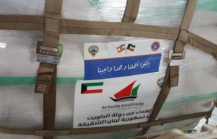 الجسر الجوي الكويتي يواصل نقل الاحتياجات إلى لبنان