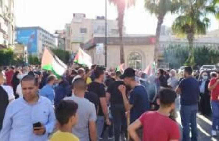 فلسطين | مسيرة غاضبة برام الله رفضا لاتفاق الإمارات وإسرائيل