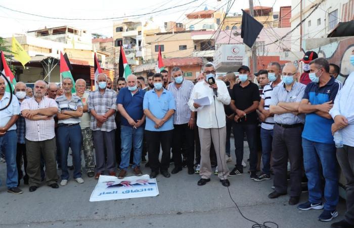 اعتصام في مخيم الرشيدية احتجاجا على الاتفاق الإمارتي – الاسرائيلي