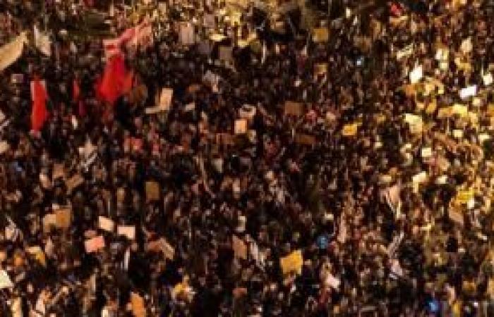 فلسطين | اعتقال 11 إسرائيليًا خلال تظاهرة مناهضة لنتنياهو