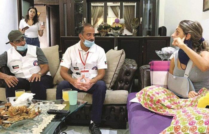 أجهزة كهربائية من الشعب الكويتي للأسر المتضررة
