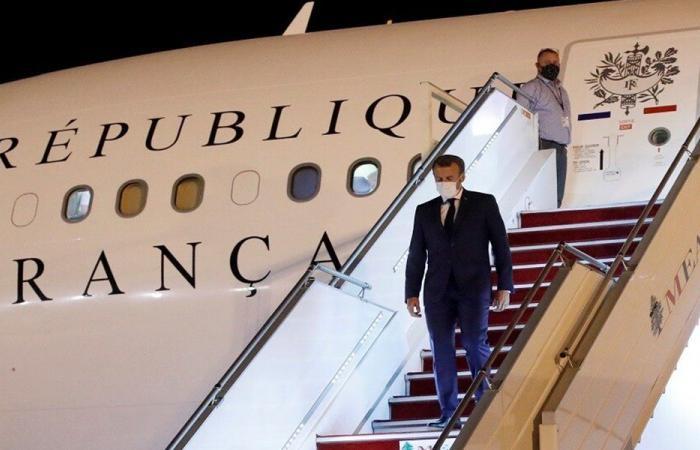 """""""ميدل إيست"""" تكشف تفاصيل حادث طائرة ماكرون في مطار بيروت"""