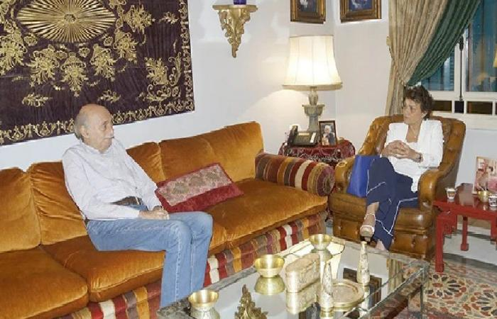 جنبلاط عرض ومنسقة الأمم المتحدة في لبنان الأوضاع