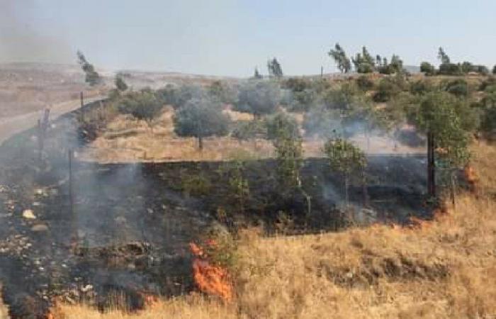 حرائق في عكار بسبب ارتفاع درجات الحرارة