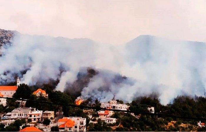 خسائر كبيرة جراء حريق في سقي رشميا
