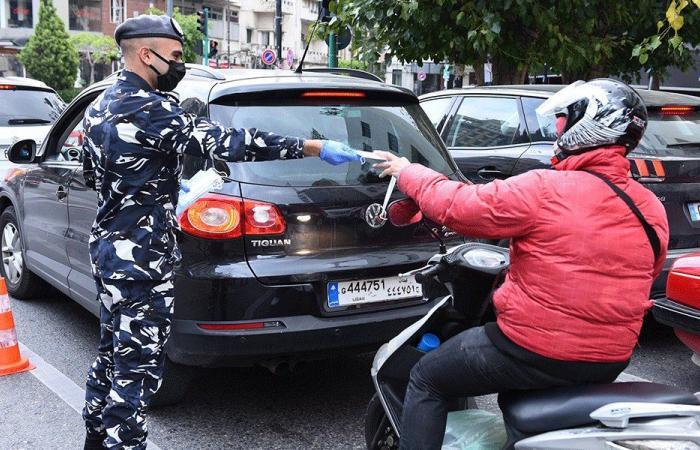 توزيع كمامات للمواطنين في بيروت (صور)