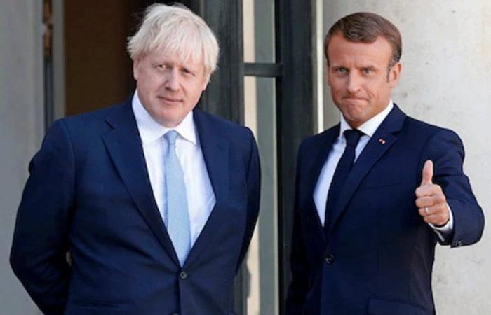 ماكرون بحث مع جونسون الوضع في لبنان