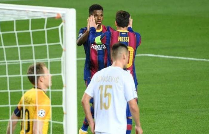 برشلونة يستهل مشواره في دوري الأبطال بخماسية
