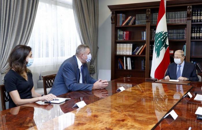 شيا وكوبيتش في بعبدا.. مفاوضات الترسيم على طاولة عون