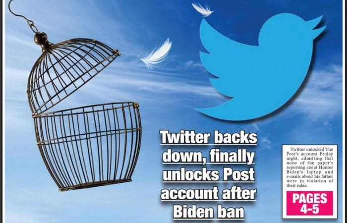 تويتر يلغي تجميد حساب صحيفة نيويورك بوست