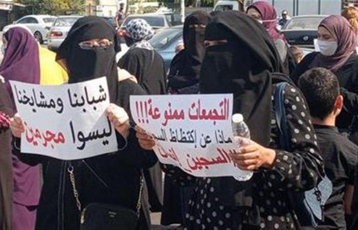 مسيرة لأهالي موقوفي عبرا في سوق صيدا للمطالبة بالعفو العام