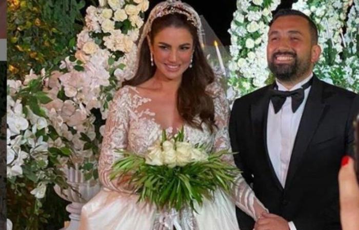 فيديو للنجمة التونسية درة وهي تبكي أثناء حفل زفافها الذي أقيم بالجونة المصرية