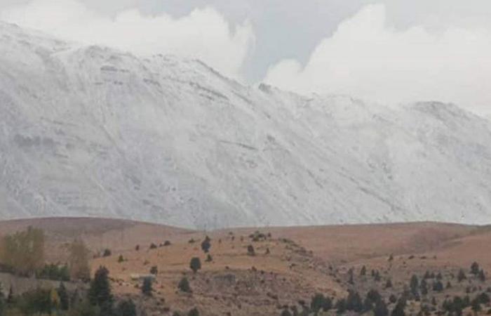 الثلوج غطت مرتفعات الضنية والقرنة السوداء