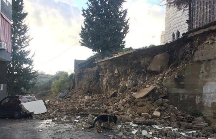 انهيار سقف كنيسة في الكفور – النبطية
