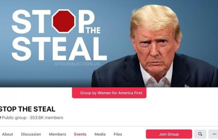 مجموعة فيسبوك تدعي سرقة الانتخابات تبلغ 325 ألف عضو في يوم واحد