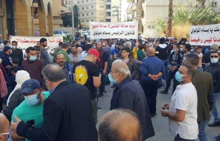 مسيرة في طرابلس رفضًا لقرار إطلاق أحد المتهمين