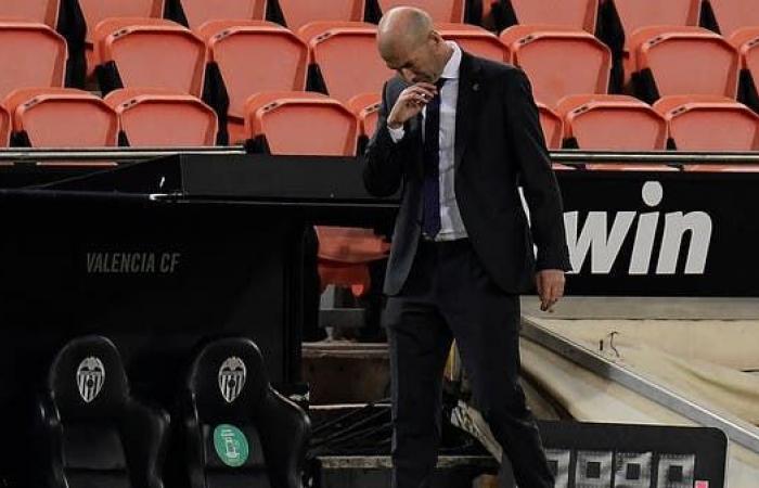 """خسارة ريال مدريد تصيب زيدان بـ""""القلق"""""""