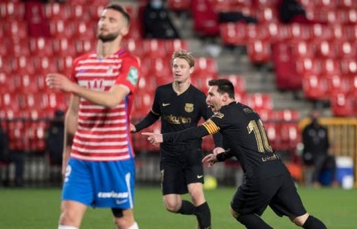 ميسي يتألق ويعيد برشلونة إلى الثالث