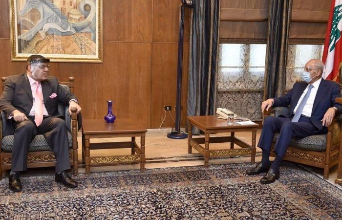 بري عرض الاوضاع العامة مع السفير المصري