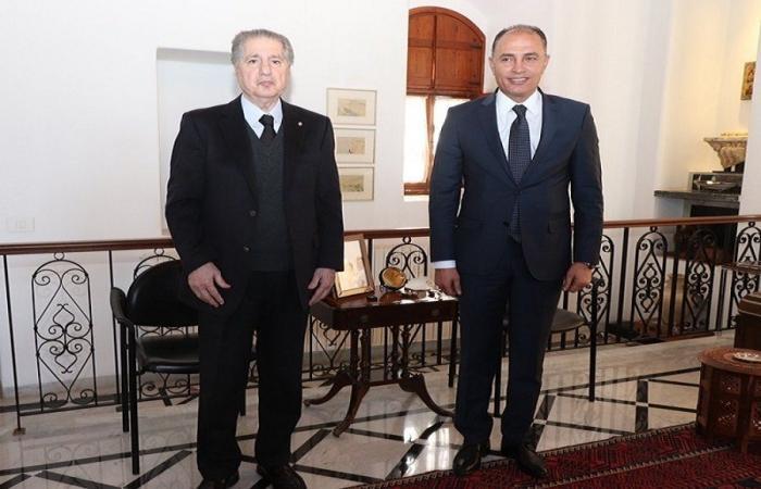 امين الجميل استقبل سفير تونس