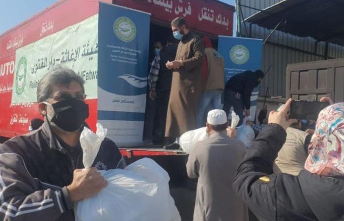 حصص غذائية من دار الفتوى إلى محتاجي طرابلس