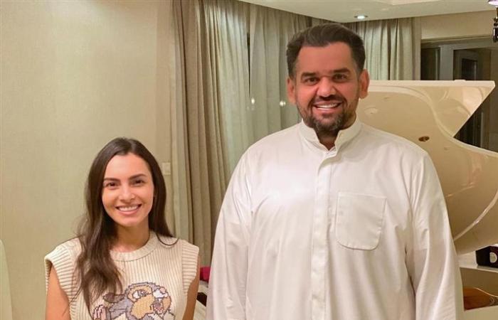 كارمن سليمان وزوجها في ضيافة حسين الجسمي.. صور