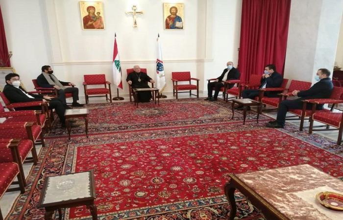 """العبسي التقى وفدًا من """"لبنان القوي"""" متضامنًا مع مواقفه"""