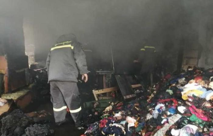 حريق في مبنى تراثي في بعلبك