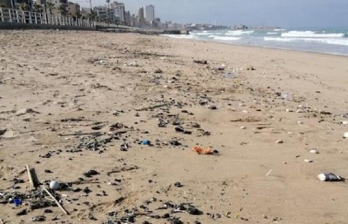القطران الأسود يغزو شاطئ صيدا!
