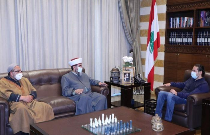 الحريري التقى هيئة علماء المسلمين في لبنان