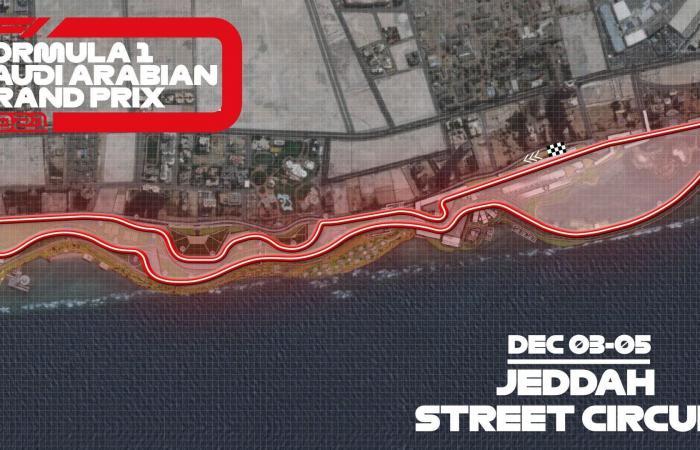 الكشف عن مسار سباق جائزة السعودية الكبرى لفورمولا-1